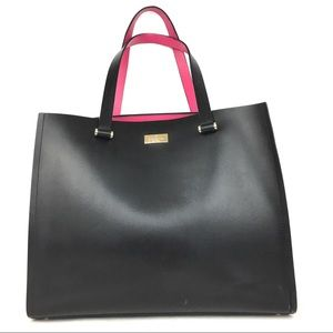 Kate Spade Black and Pink Leather Tote